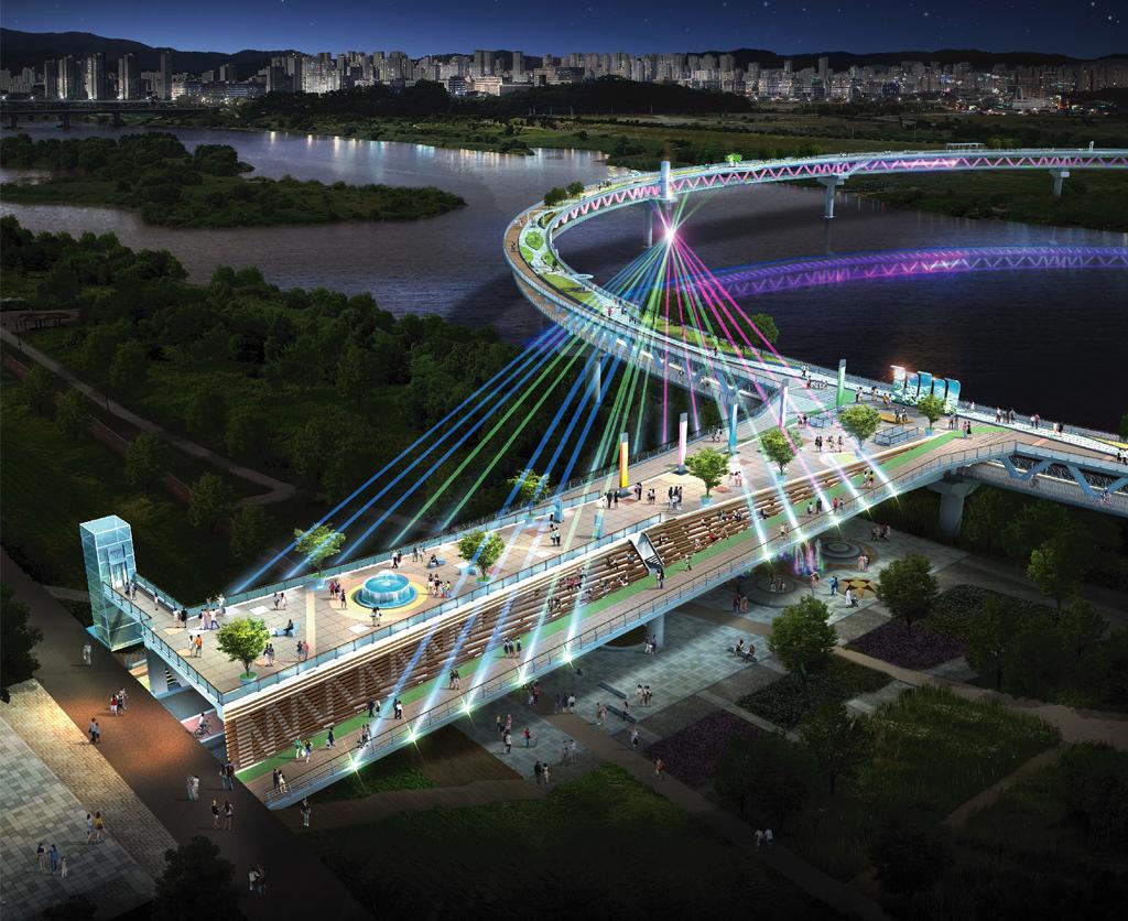 DASAN Won the Bid for Circular Pedestrian Bridge | 다산